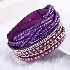 Punk Style Multilayer Bracelets & Bangles Rivet