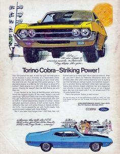 1970 Ford Torino Cobra -ad.