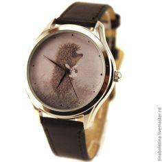 Купить Дизайнерские наручные часы Ежик в тумане с котомочкой - прикольные часы, прикольный подарок