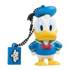Tribe FD019405 Disney Pendrive Figurine Fantaisie Clé USB Flash Drive 2.0 8 Go Memory Stick Solutions de Stockage/ Porte-clés/ Donald Duck Bleu