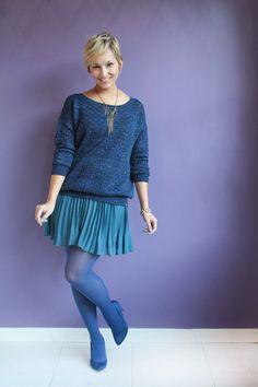 meia-calca azul