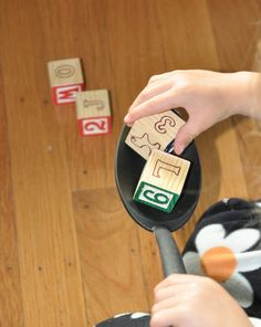 Activities: Over and Out!: 2 Great Obstacle Courses: I'm using colorful blocks for math