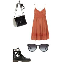 Untitled #867 by joleen2310 on Polyvore featuring polyvore fashion style Topshop See by Chloé Brit-Stitch Ray-Ban