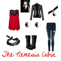 Designer Clothes, Shoes & Bags for Women Bad Girl Outfits, Movie Outfits, Fandom Outfits, Outfits For Teens, Hades Percy Jackson, Percy Jackson Outfits, Girls Fashion Clothes, Girl Fashion, Fashion Outfits
