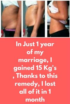 In Just 1 year of my marriage, I gained 15 Kg's , Thanks to this remedy, I lost all of it in 1 month This amazing drink will boost your metabolism and help you lose weight faster than ever. It will eliminate toxins in the body and will provide results in no time. It is effective thanks to the health benefits of its ingredients, which are specifically picked for their metabolism-boosting properties. Here's how to prepare it: Ingredients: 1 …