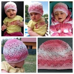 Návod: Kytičková čepice   Pilgrim Crochet Hats, Tricot, Knitting Hats