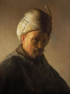 Portrait of Rembrandt van Rijn - Rembrandt - WikiPaintings.org  Old man with turban c. 1628