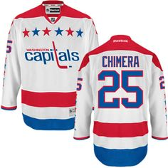 Authentic Jason Chimera White Men s NHL Jersey   25 Washington Capitals  Reebok Third Washington Capitals 0cadd9f37