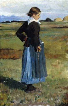 French Peasant Girl - Childe Hassam