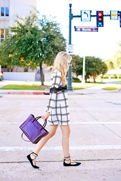 plaid dress to wear for fall / a pinch of lovely