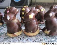 Velikonoční nepečené cukroví Czech Recipes, Easter Recipes, Easter Food, Gingerbread Cookies, Doughnut, Muffin, Pudding, Breakfast, Desserts