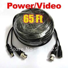 16.80$  Watch now - http://ali3qs.shopchina.info/1/go.php?t=465040316 - 65ft 20M Video Power CCTV Cable With BNC Male For Security Camera a77 16.80$ #buyininternet
