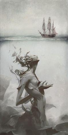 Deep and silent #surreal #deep #ocean #darkness #darkart #dark #death #art #artist