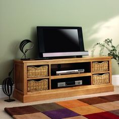 Farmhouse Natural Widescreen TV Unit from The Cotswold Company