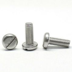 Details About 50pcs M1 6 M2 M2 5 Slotted Pan Head Screw One Word Round Screws Stainless Steel Screws