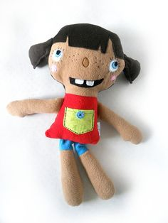Stuffed handmade Doll Soft Safe children toy by baraqada on Etsy, $45.00