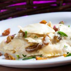 Ravioli Parma e Brie Ravioli, Cooking Classes, Pasta Recipes, Carne, Potato Salad, Mashed Potatoes, Meat, Breakfast, Ethnic Recipes