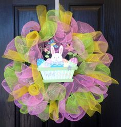 Spring Mesh Wreaths | Request a custom order and have something made just for you.