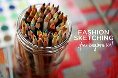Fashion Sketching For Beginners  This article is a great start in sketching fashions for begginers. I will use this idea for sketching quick designs!