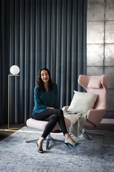 Meet the Editor: An Interview with Elle Decoration's Michelle Ogundehin - The Chromologist Elle Decor, Portrait Photographers, Portraits, My Favorite Color, Interview, Colours, Style Inspiration, My Style, Beautiful