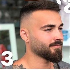 short beard styles 2018 new beard style 2018 True beardsmen understand an important point about growing facial hair – that choosing the right beard style for any man depends on a variety of. Trimmed Beard Styles, Faded Beard Styles, Beard Styles For Men, Hair And Beard Styles, Short Hair Styles Men, Beard Trimming Styles, Short Hair With Beard, Mens Hairstyles With Beard, Haircuts For Men