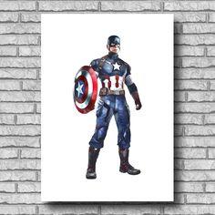 Captain america affiche Vengeurs affiche capitaine Amérique impression Vengeurs d'impression poster de super-héros avengers aquarelle capitaine Amérique mural art par WolfRabbitStudio sur Etsy https://www.etsy.com/fr/listing/237652826/captain-america-affiche-vengeurs-affiche