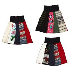 recycled holiday sweater skirt- expensive here, want to try and make this myself much cheaper