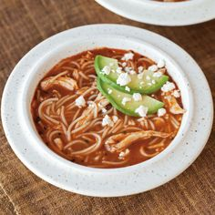Fideo and Chicken Soup with Queso Fresco