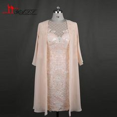 Elegant Lace Mother of the Bride Dress with Jacket 3/4 Sleeves