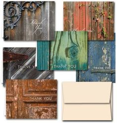 Rustic Thank You Note Cards