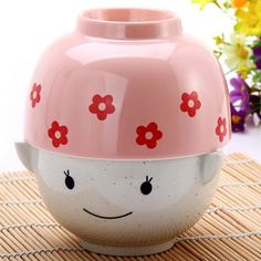 Set of MM Cartoon Couple Paragraph Doll Bowl Rice Soup Bowl Christmas Valentine Gift for Children Lovers-9.68 and Free Shipping| GearBest.com