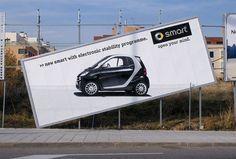 Smart inclined billboard