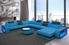 Sofa Dreams Sofa »Berlin«, U Form XXL, Hochwertige Verarbeitung und beste Materialien online kaufen | OTTO Red Leather Sectional, Sofas, Outdoor Furniture Sets, Outdoor Decor, Furniture Design, Couch, Living Room, Bed, Colors
