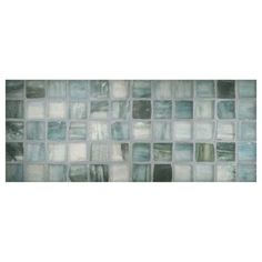 "Complete Tile Collection Zumi Glass Mosaic - Sea Spruce - Silk, 1"" Square Recycled Glass Mosaic, MI#: 038-G2-263-055, Color: Sea Spruce"