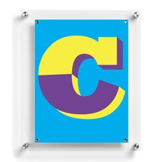 Letter C Poster now featured on Fab. O could totes make posters.