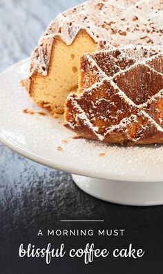 Delicious coffee cake recipe to start your morning! #coffee #cake #recipe