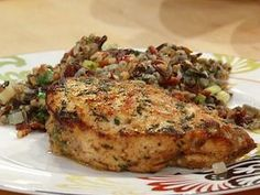 Cheddar-Chutney Stuffed Chicken from the Rachel Ray show today.