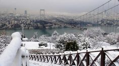 Snowy Istanbul from Otagtepe Park...  http://www.istanbulfind.com/en/otagtepe-marquee-hill