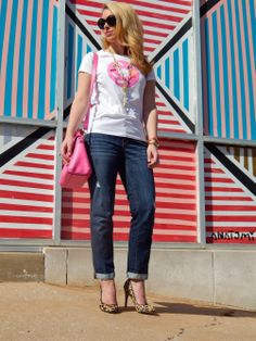 Top: Kate Spade, Jeans: Gap, Bag: Kate Spade, Heels: Aldo, Necklace: Neiman Marcus, Rings: David Yurman, mom find, Bracelets: C. Wonder  The Paper Doll Blog