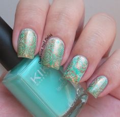 The Clockwise Nail Polish: Uber Chic UB 3-02 Stamping Plate Review