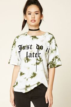 Oversized Tie-Dye Graphic Tee | Forever 21 - 2000191190