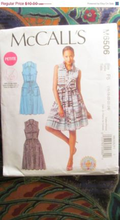 SALE Uncut McCall's Sewing Pattern 6506 by EarthToMarrs on Etsy, $7.00