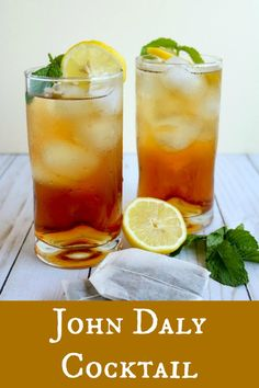 The John Daly Cocktail is a perfect drink for summer.it's an Arnold Palmer with an adult kick! A delicious combination of homemade lemonade, fresh-brewed sweet tea, and your favorite vodka, the John Daly Cocktail is light and refreshing Refreshing Summer Cocktails, Cocktail And Mocktail, Easy Cocktails, Summer Drinks, Vodka Cocktails, Alcoholic Beverages, Best Cocktail Recipes, Sangria Recipes, Drinks Alcohol Recipes