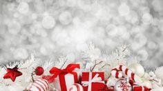 Рождество, Новый год, подарок, звезда, декорации, украшеня, белый (horizontal)