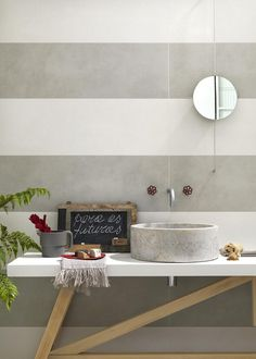 Indoor white-paste wall #tiles OFICINA7 by  @marazzitile