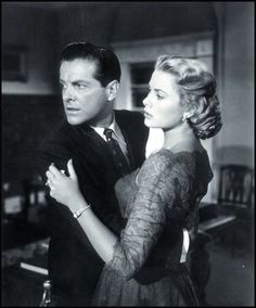 Robert Cummings and Grace Kelly in Dial M for Murder (1954)