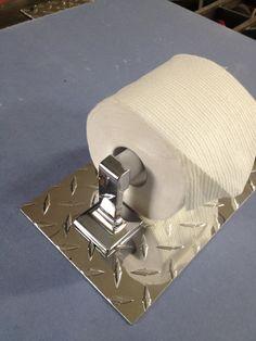 Diamond Plate Toilet Paper Holder by Bevnapblueprints on Etsy