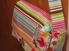Pretend and play diaper bag. Need to make one for Audrey and maybe some for the shop!