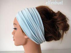 Haarband extrabreit 14 cm hellblau von  Maria Elfenbunt auf DaWanda.com Hair, Accessories, Etsy, Fashion, Light Blue, Amazing, Moda, Fashion Styles, Fashion Illustrations