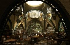 Concept art for 2004's Lemony Snicket's A Series of Unfortunate Events (Production Designer Rick Heinrichs). All artwork copyright the awesome Nathan Schroeder.: